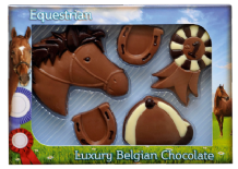 Belgian Milk Chocolate Horse Riding Set.